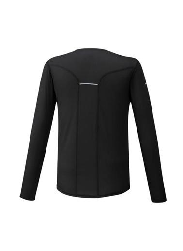Mizuno Dry Aeroflow Ls Hz Erkek T-Shirt Siyah Siyah